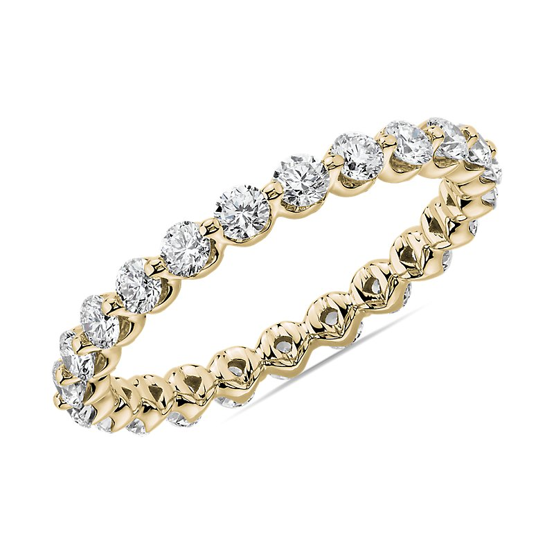 Floating Diamond Eternity Band in 14k Yellow Gold (1 ct. tw.)
