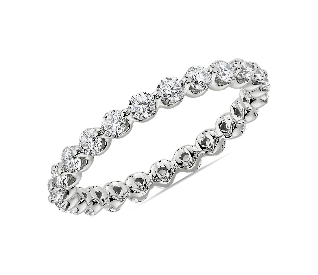 Floating Diamond Eternity Band in Platinum (1 ct. tw.)