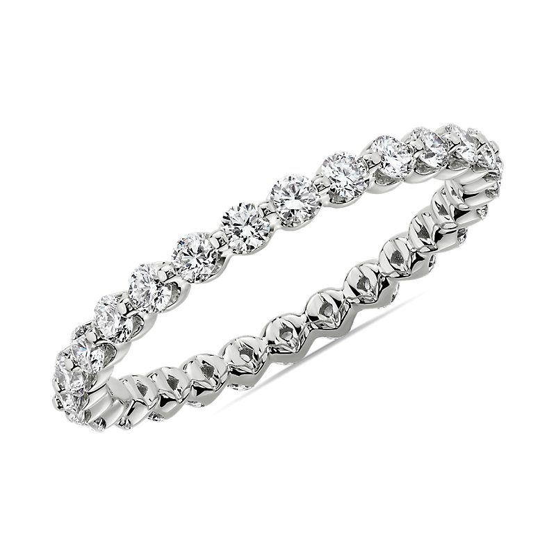 Floating Diamond Eternity Band in Platinum (3/4 ct. tw.)