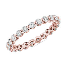 Floating Diamond Eternity Ring in 14k Rose Gold - I/SI2 (1 ct. tw.)