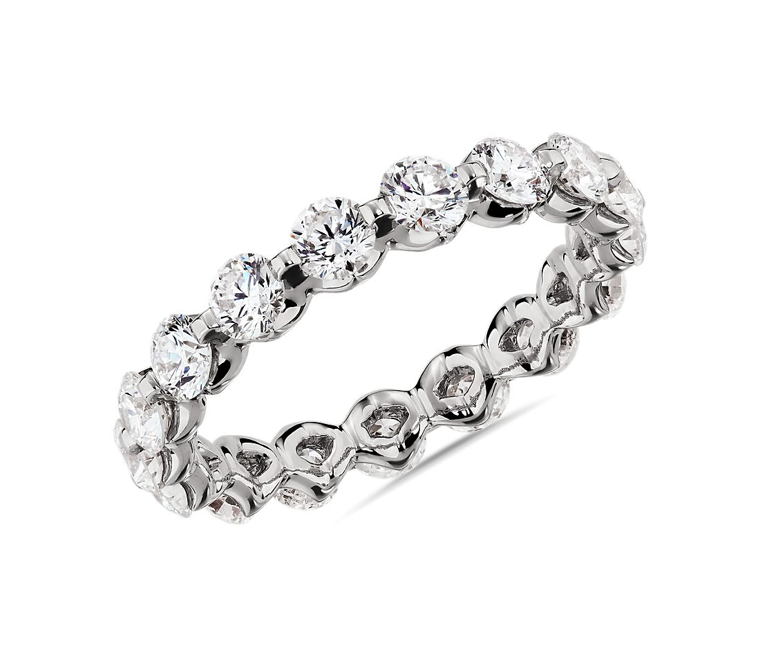 Floating Diamond Eternity Ring in 14k White Gold - I/SI2  (1.95 ct. tw.)