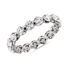 NEW Floating Diamond Eternity Ring in 14k White Gold - I/SI2  (1.95 ct. tw.)