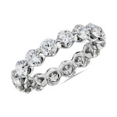 NEW Floating Diamond Eternity Ring in 14k White Gold - I/SI2 (2.95 ct. tw.)