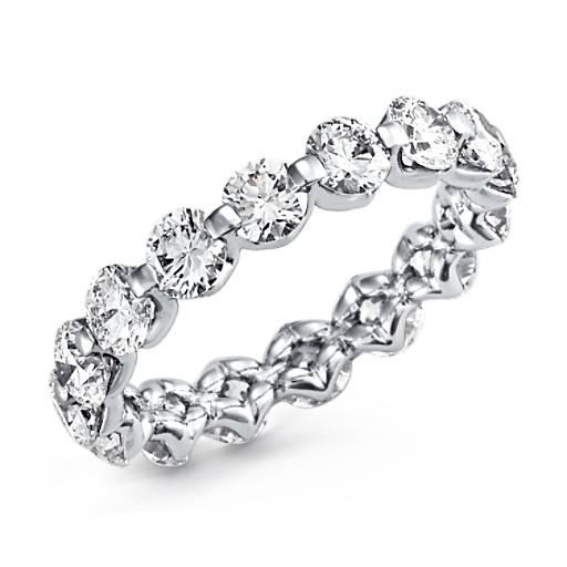 Floating Diamond Eternity Ring In Platinum 3 Ct Tw