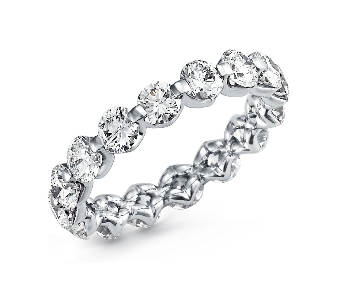 Floating Diamond Eternity Ring in Platinum (3 ct. tw.)