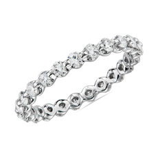 NEW Floating Diamond Eternity Ring in 14k White Gold - I/SI2 (0.95 ct. tw.)