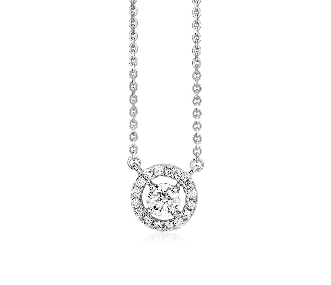Floating Diamond Halo Pendant in 14k White Gold (1/2 ct. tw.)