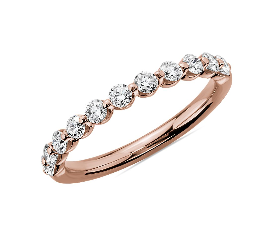 Floating Diamond Wedding Ring in 14k Rose Gold (1/2 ct. tw.)