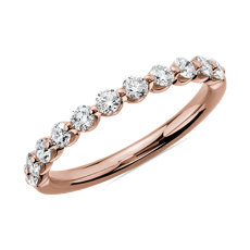 Alliance diamant flottant en or rose 14 carats (1/2 carat, poids total)