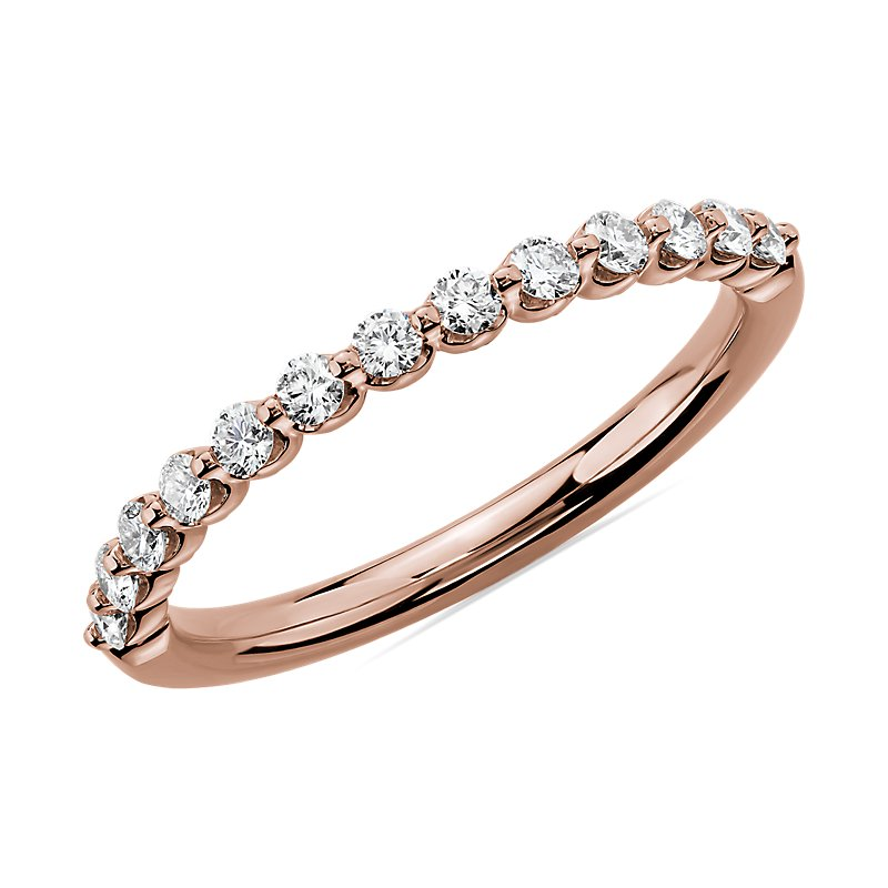 Floating Diamond Wedding Ring in 14k Rose Gold (1/3 ct. tw.)