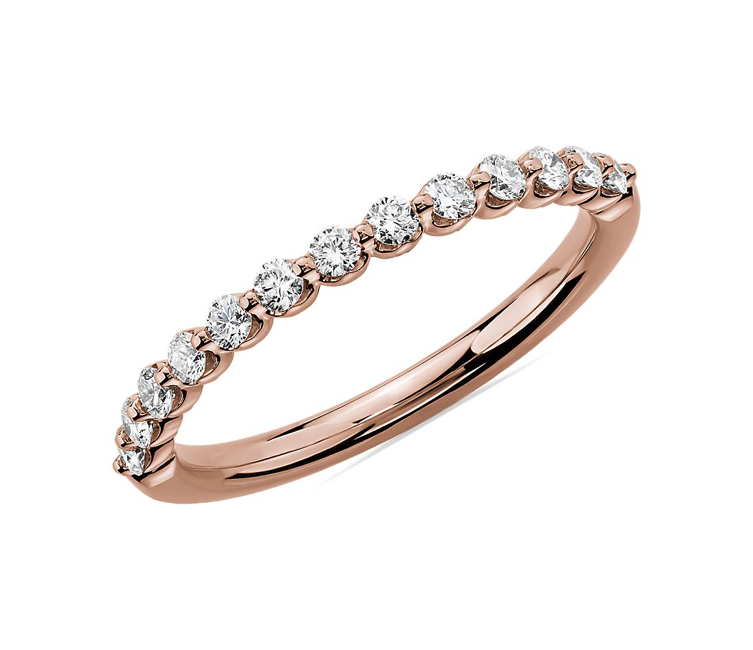 Floating Diamond Wedding Ring in 14k Rose Gold (1/3 ct. tw.)