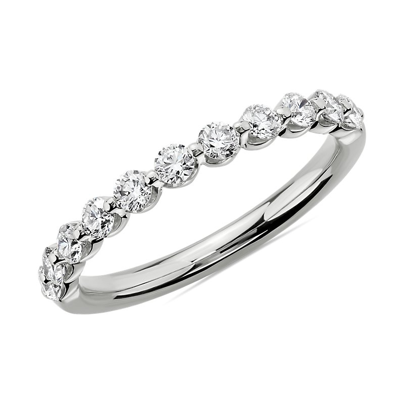 Floating Diamond Wedding Ring in 14k White Gold (1/2 ct. tw.)