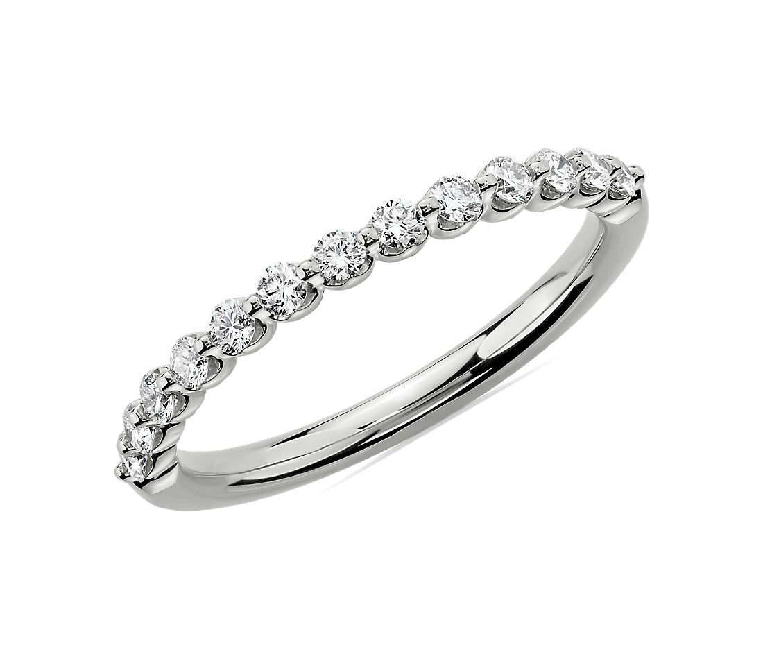 Floating Diamond Wedding Ring in 14k White Gold (1/3 ct. tw.)