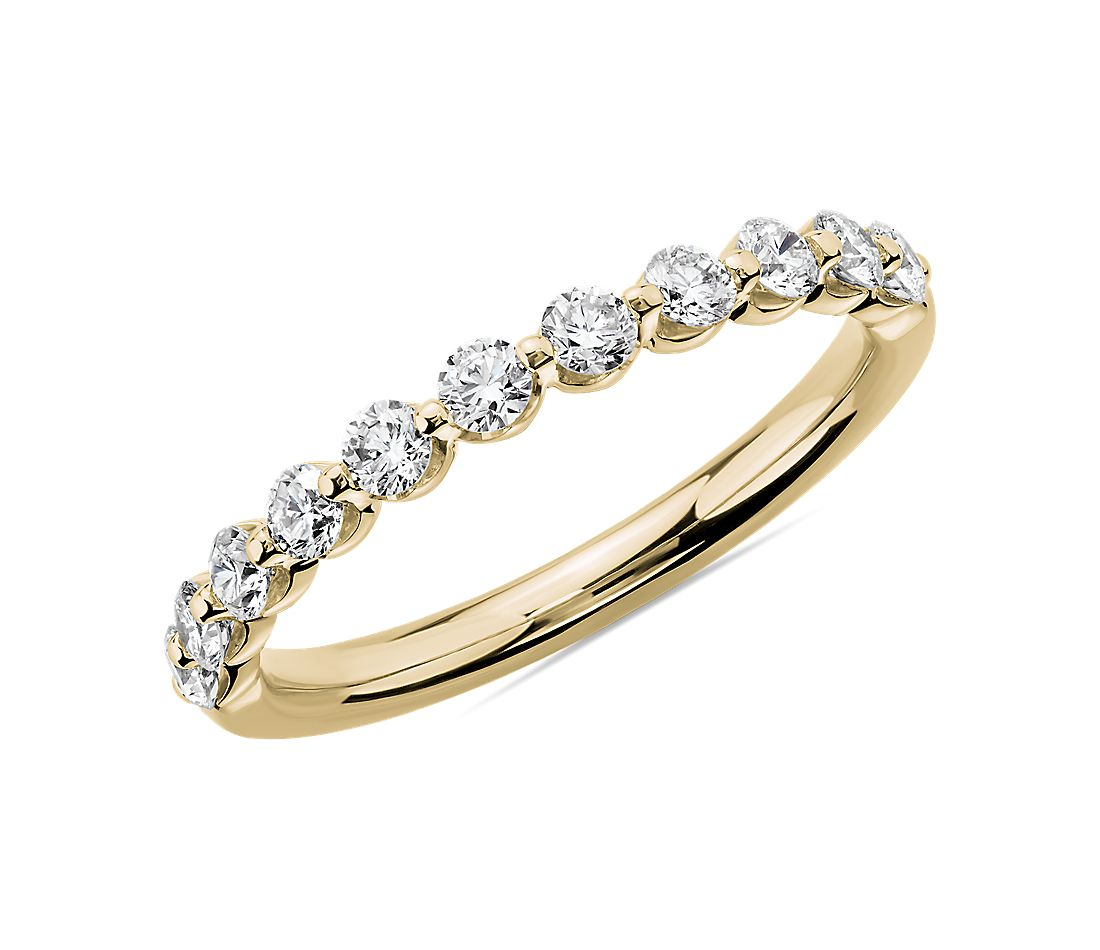 Floating Diamond Wedding Ring in 14k Yellow Gold (1/2 ct. tw.)