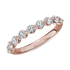 NEW Floating Diamond Wedding Ring in 14k Rose Gold - I/SI2 (3/4 ct. tw.)