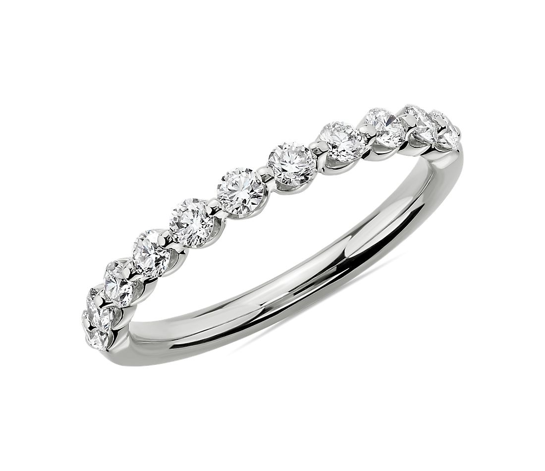Floating Diamond Wedding Ring in Platinum (1/2 ct. tw.)