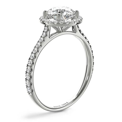 Floating Halo Diamond Engagement Ring