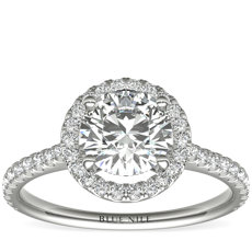 Floating Halo Diamond Engagement Ring in 14k White Gold (0.30 ct. tw.)