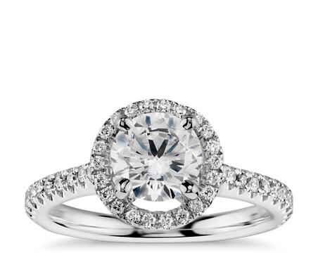 Floating Halo Diamond Engagement Ring in Platinum (1/3 ct. tw.)