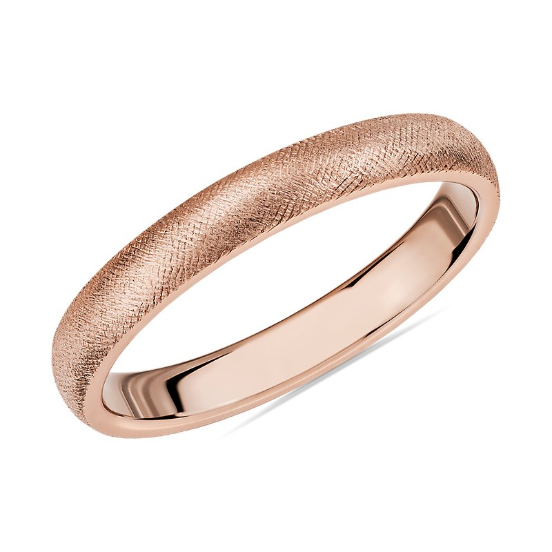 Florentine Wedding Band in 14k Rose Gold (3mm)