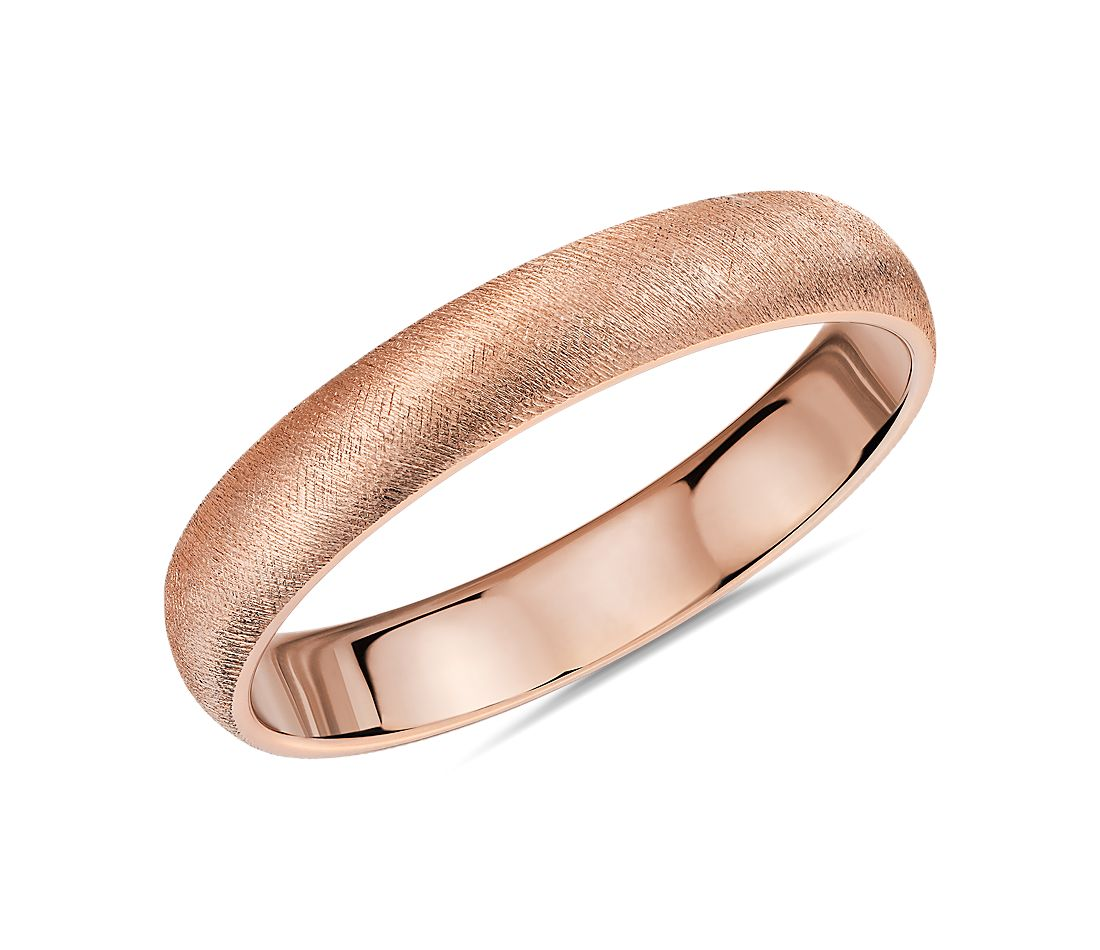 Florentine Wedding Band in 14k Rose Gold (4mm)