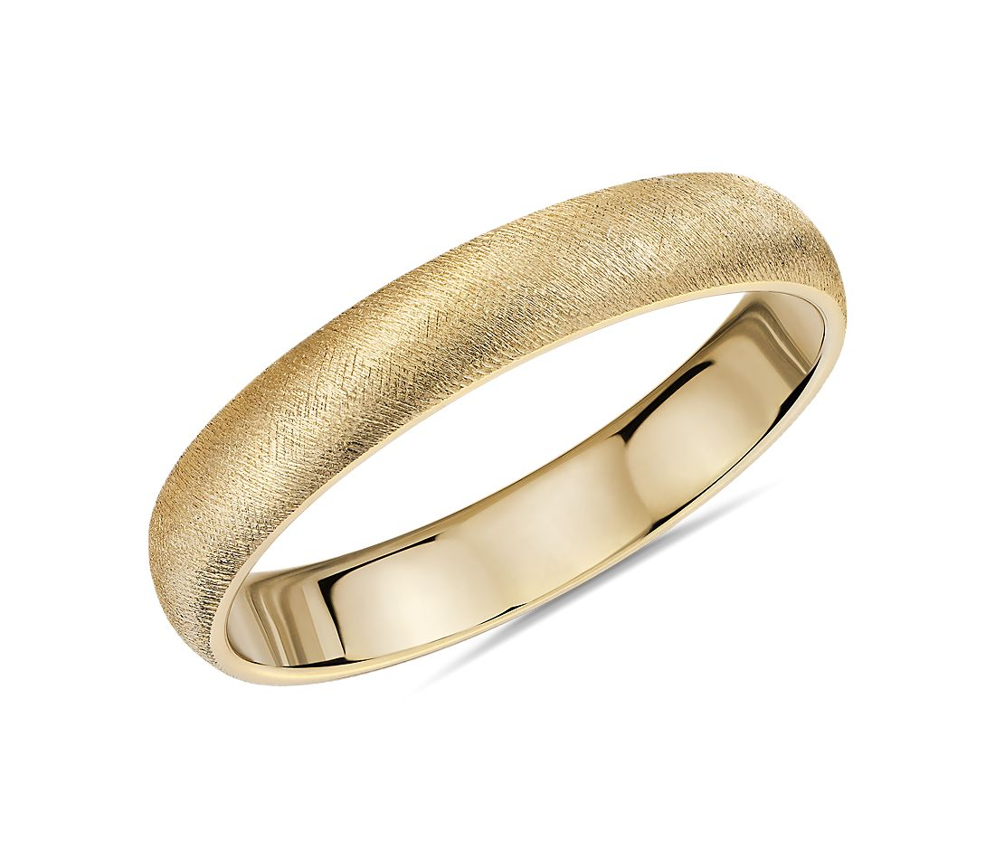Florentine Wedding Band in 14k Yellow Gold (4mm)