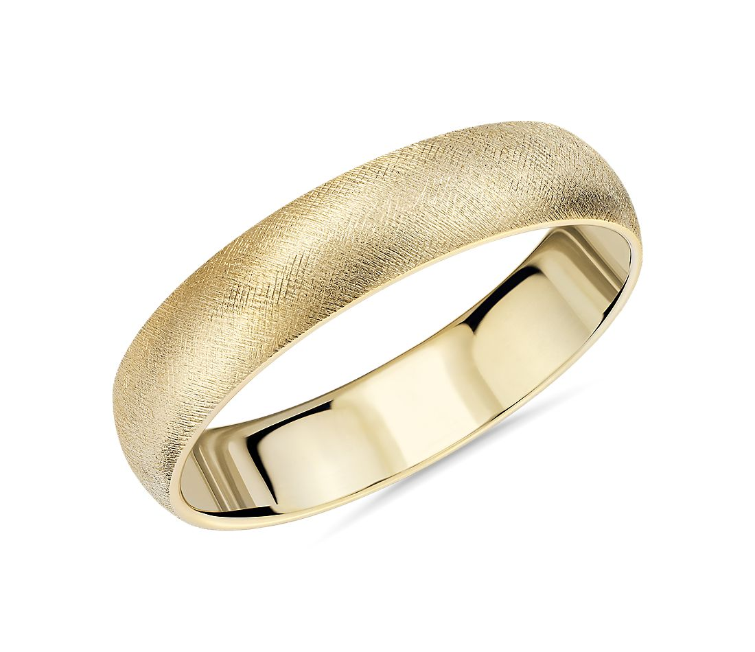 Florentine Wedding Band in 14k Yellow Gold (5mm)