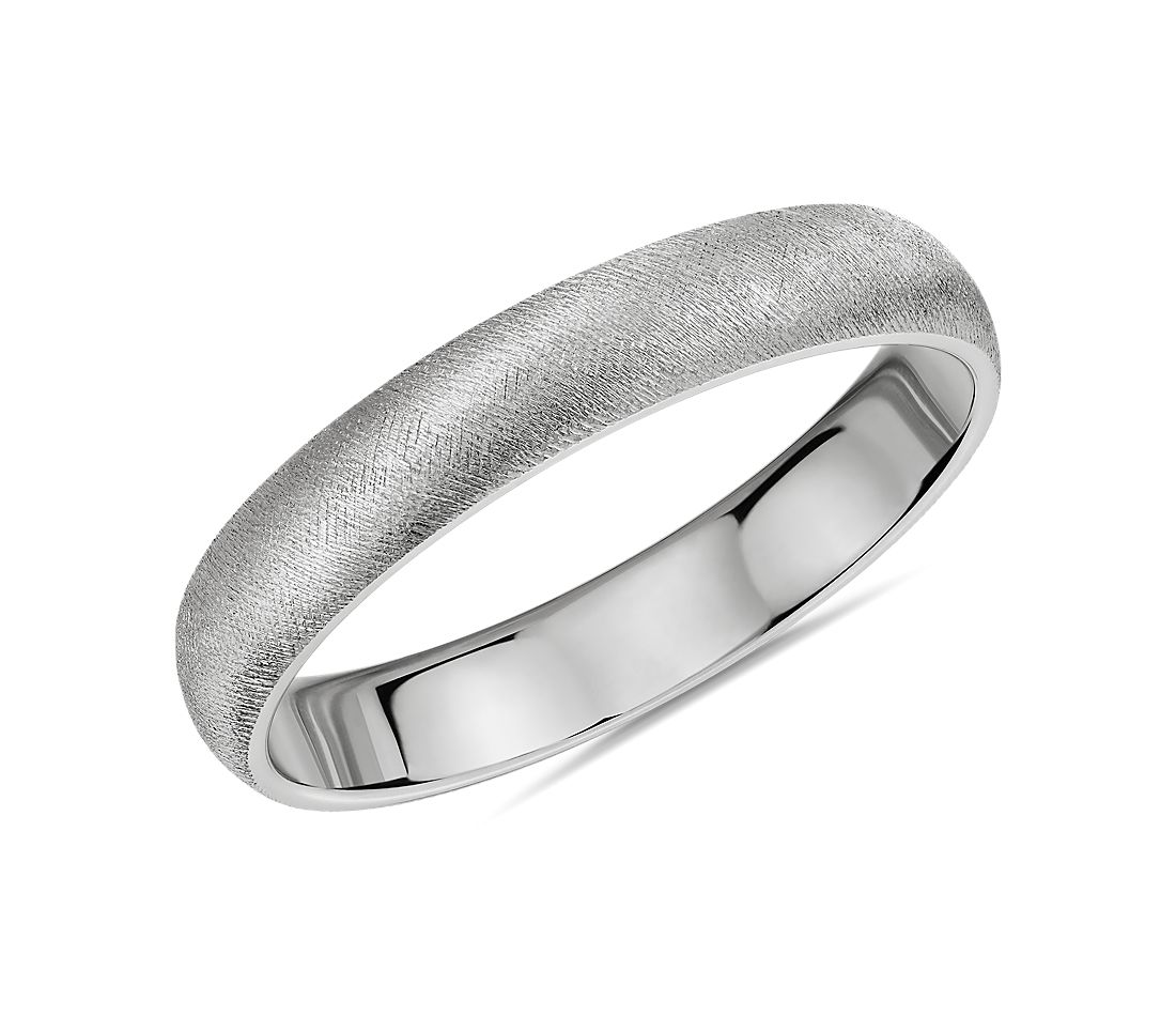 Florentine Wedding Band in Platinum (4mm)