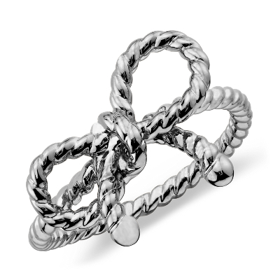 Forget Me Knot Ring In Sterling Silver Blue Nile