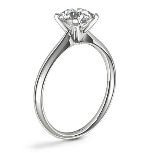 新藝術款式四爪單石訂婚戒指