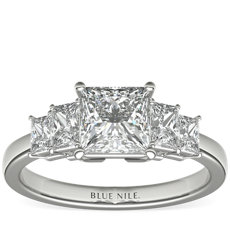 Four Stone Princess-Cut Diamond Engagement Ring in Platinum (1 ct. tw.)