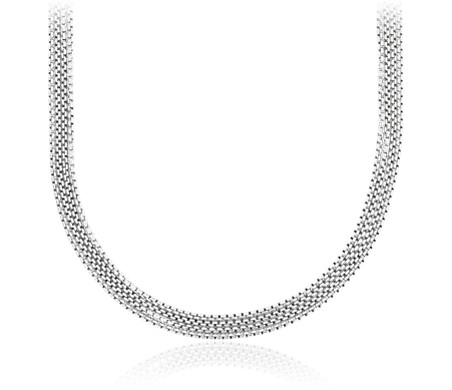 Four Strand Choker Necklace in Sterling Silver