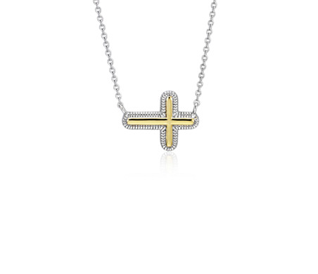 Blue Nile Cross Pendant in Sterling Silver QblAF7YP