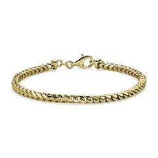 新款 14k 意大利黄金 Franco 男士链条手链