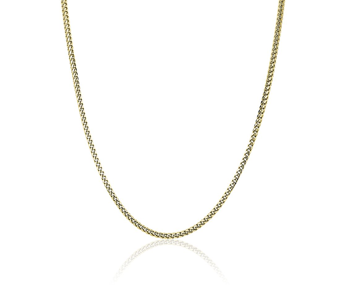 Men's Franco Chain Necklace in 14k Yellow Gold