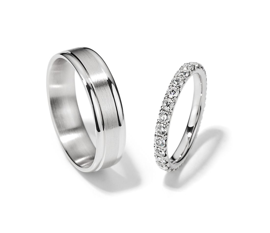 Top view of two complementary rings together