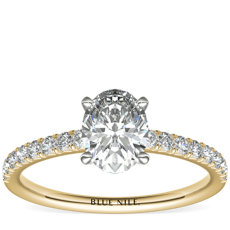French Pavé Diamond Engagement Ring in 14k Yellow Gold (1/4 ct. tw.)