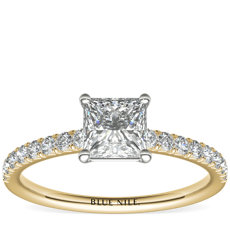 French Pavé Diamond Engagement Ring in 14k Yellow Gold (0.24 ct. tw.)