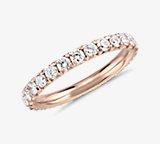 French Pavé Diamond Eternity Ring