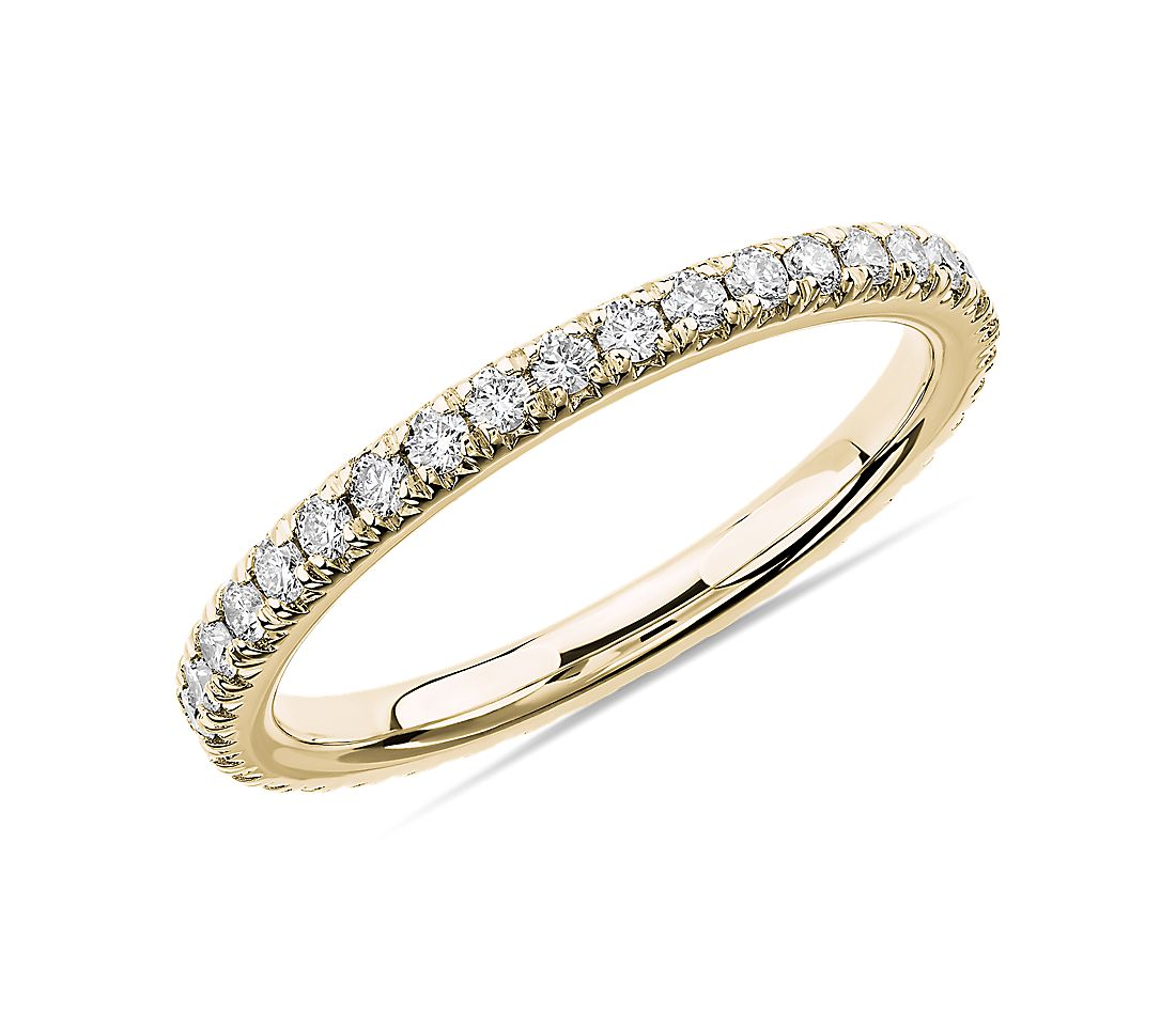 French Pavé Diamond Eternity Ring in 14k Yellow Gold (1/2 ct. tw.)