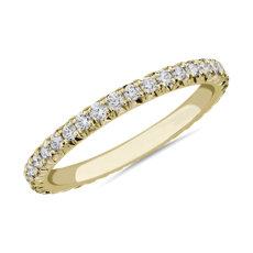 14k 黃金法式密釘鑽石永恆戒指(1/2 克拉總重量)