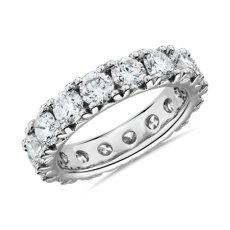 新款鉑金法式密釘鑽石永恆戒指 - H/SI2 (4 克拉總重量)