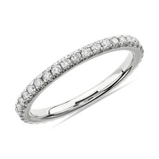 NEW French Pavé Diamond Eternity Ring in Platinum (1/2 ct. tw.)