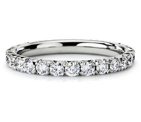diamond eternity pin wedding stackable ct bands band ring