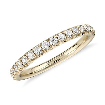French Pavé Diamond Ring in 14k Yellow Gold (1/4 ct. tw.)