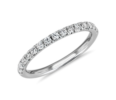 French Pavé Diamond Ring in 18k White Gold (1/4 ct. tw.)