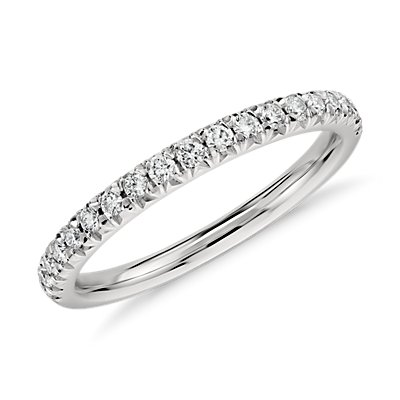 French Pavé Diamond Ring in Platinum (1/4 ct. tw.)