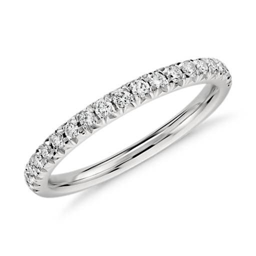 Antique Style 4 2mm Platinum Men S Wedding Band With: French Pavé Diamond Ring In Platinum (1/4 Ct. Tw.)