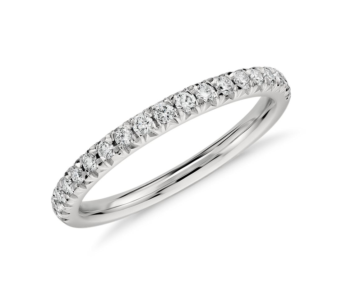 french pav diamond ring in platinum 14 ct tw - Pics Of Wedding Rings