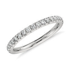 French Pavé Diamond Ring in Platinum (0.24 ct. tw.)